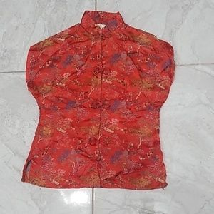 Tops - Red Village Mandarin Top